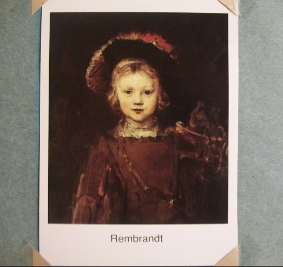'The Artst's Son' by Rembrandt
