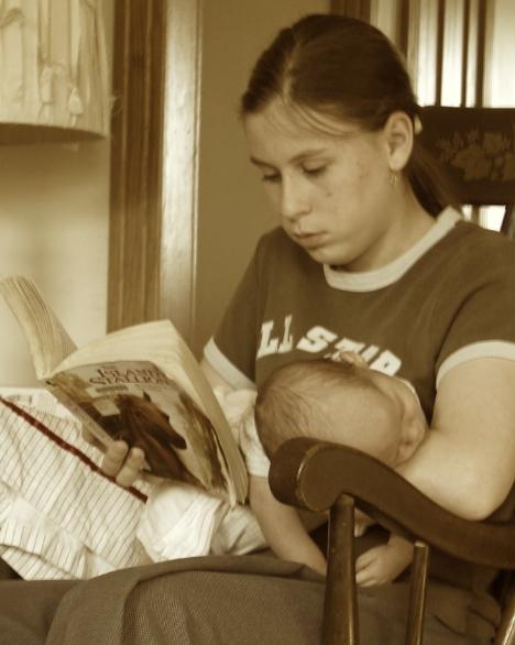 Caitlin reading