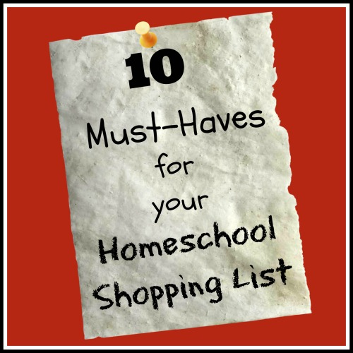 Homeschool Shopping List - Apron Strings & other things