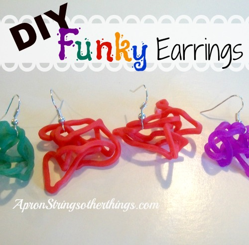 Funky Earrings Apron Strings & other things