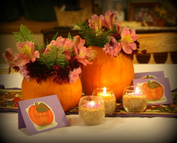 Autumn Centerpiece / Apron Strings & other things