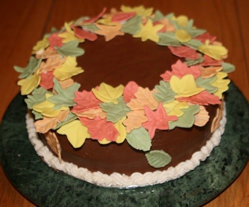 Autumn Leaves Cake / Apron Strings & other things