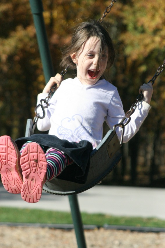 Fall Fun on the Playground - Apron Strings & other things