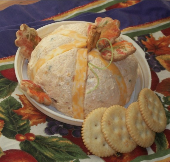 cheese ball pumpkin / Apron Strings & other things