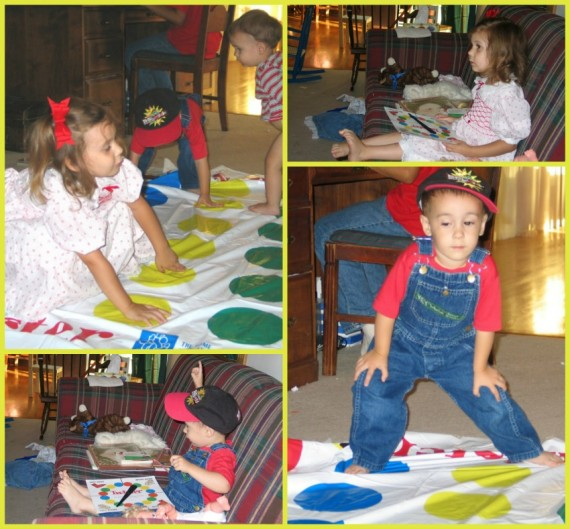 Preschool at Home Twister - Apron Strings & other things