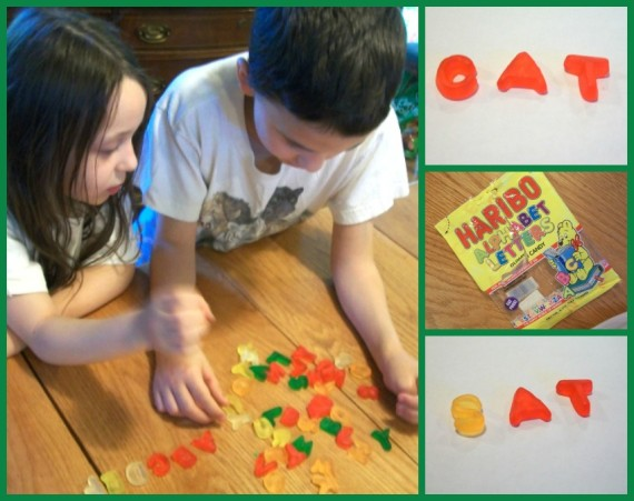 Preschool at Home gummy letters - Apronstrings & other things