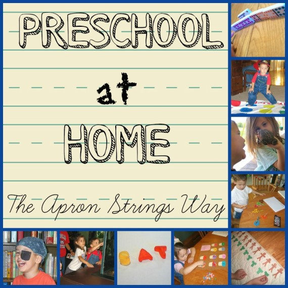 Preschool at Home, the Apron Strings Way