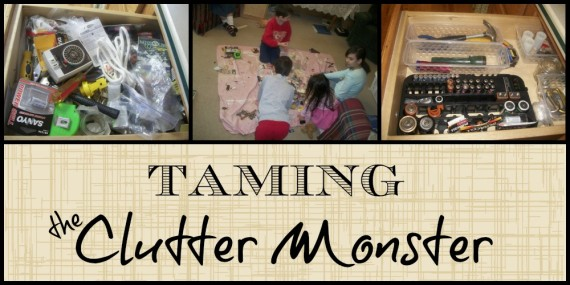 Taming the Clutter Monster - Apron Strings & other things