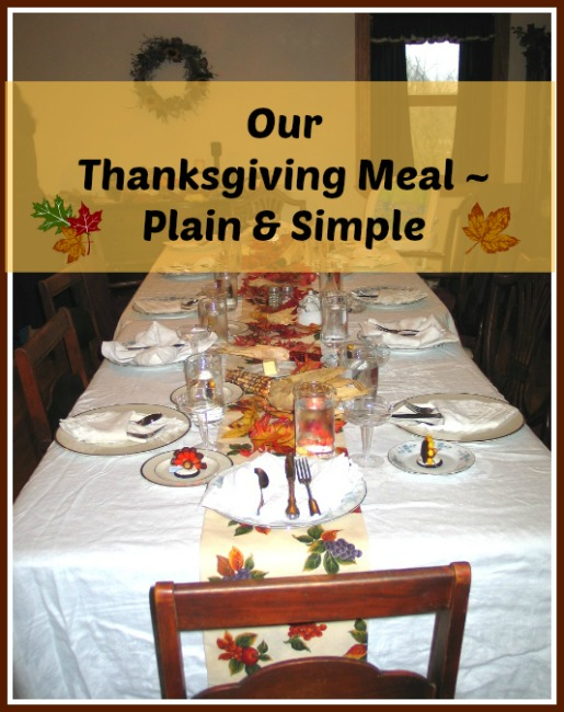 Thanksgiving Menu – Plain and Simple