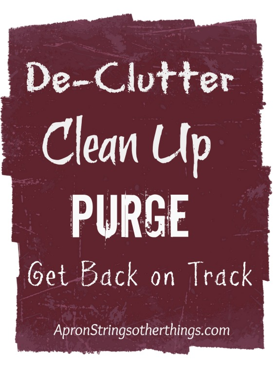 DeClutter Challenge | Apron Strings & other things