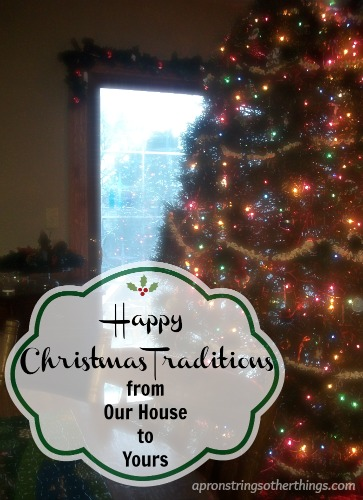 Happy Christmas Traditions  Apron Strings & other things