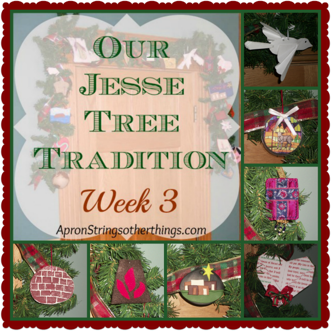 Jesse Tree 21 | Apron Strings & other things