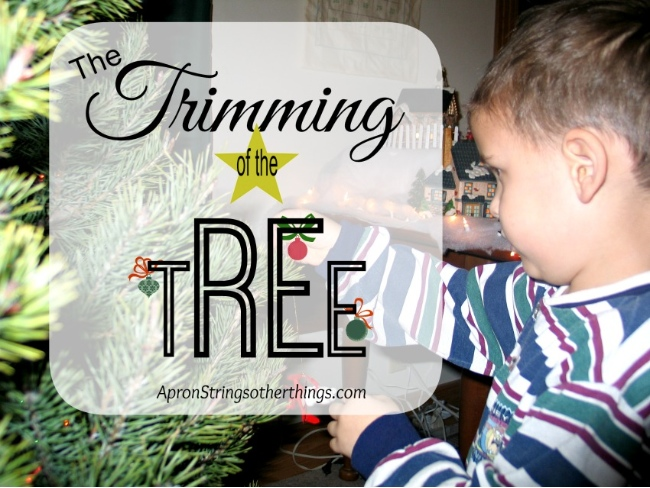 Choosing the Tree | Apron Strings & other things