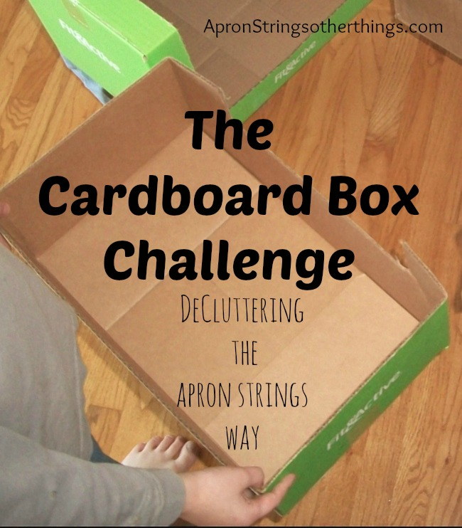 Cardboard Box Challenge | Apron Strings & other things