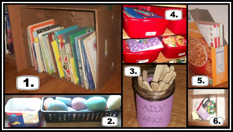 Organizing School Supplies 1 |  Apron Strings & other things