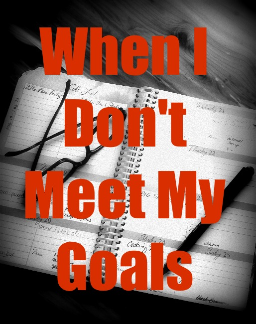 When I Don't Meet My Goals | Apron Strings & other things