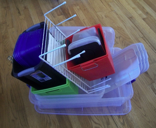 dollar store bins | Apron Strings & other things