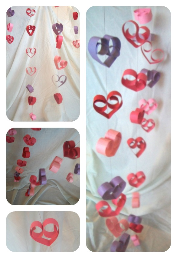 DIY Valentine Streamers
