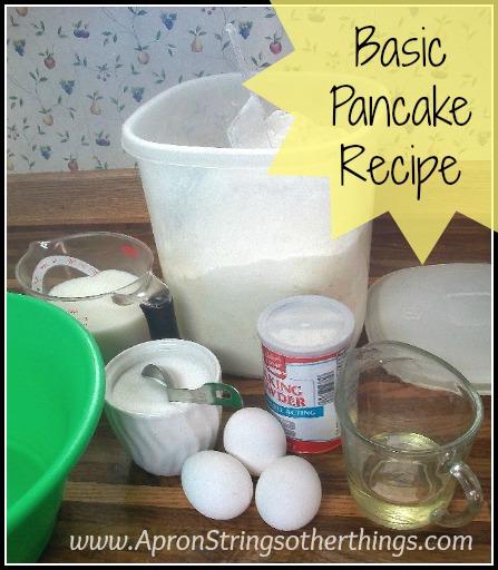 Basic Pancake Recipe Apron Strings & other things