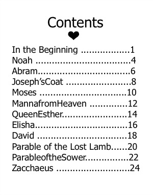QEBL Table of Contents  Apron Strings & other things