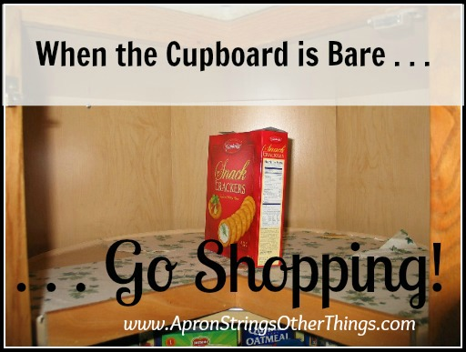 cupboard is bare | Apron Strings & other things