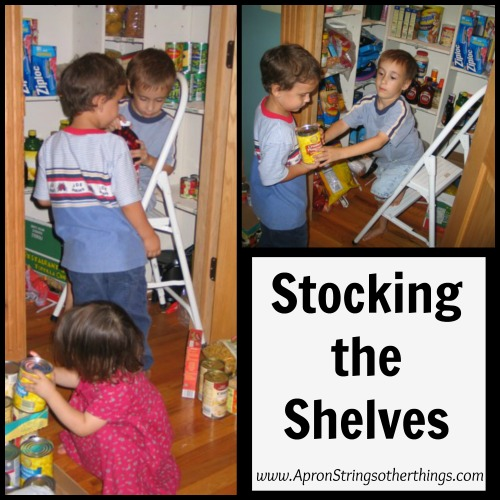stocking the shelves | Aprong Strings & other things