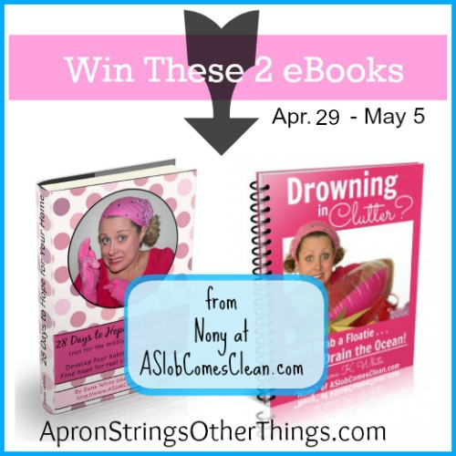 Drowning in Clutter Giveaway - Apron Strings Other Things