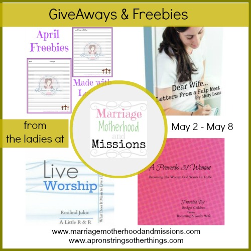 MM&M gieaway freebie - Apron Strings other things