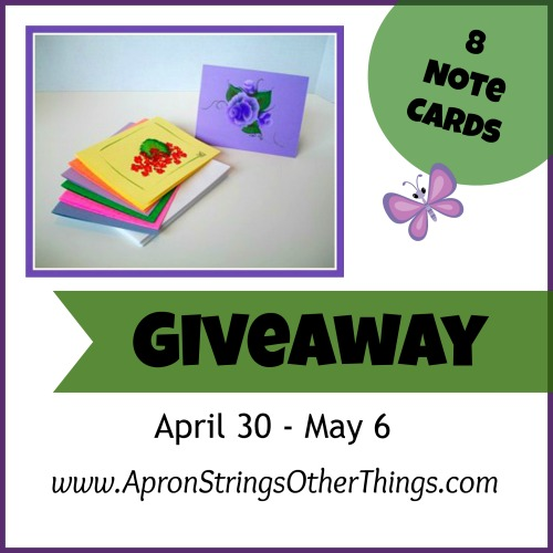 Note Card Giveaway - Apron Strings & other things