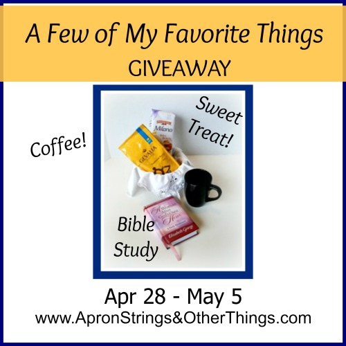 coffee giveaway - Apron Strings & other things