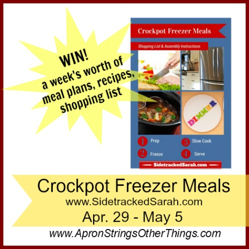crockpot freezer meals - Apron Stings & Other Things