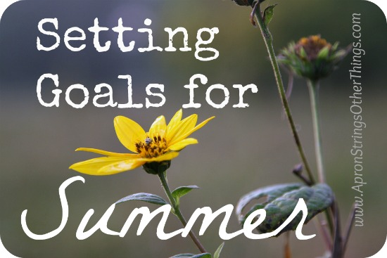 Setting Goals for Summer __ Apron Strings & Other Things