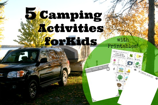 Camping Activities for Kids w Printables - Apron Strings & other things