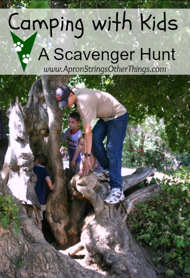 Camping with Kids Scavenger Hunt - apron Strings & other things