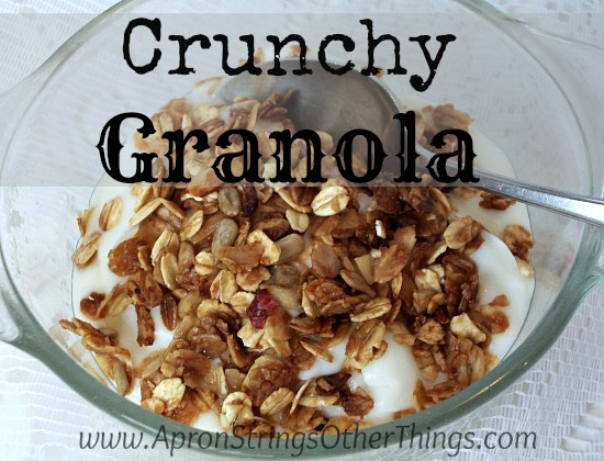 Crunchy Granola - Apron Strings & other things