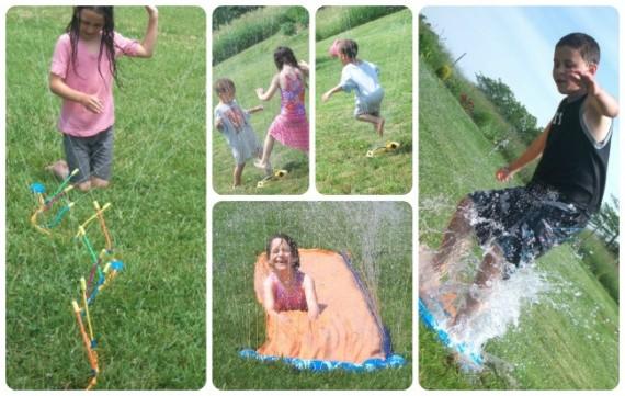 Poor Man's Water Park Splash Fun - Apron Strings & other things