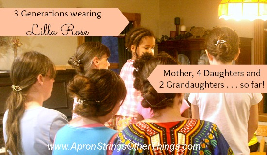 3 generations Lilla Rose - Apron Strings & other things