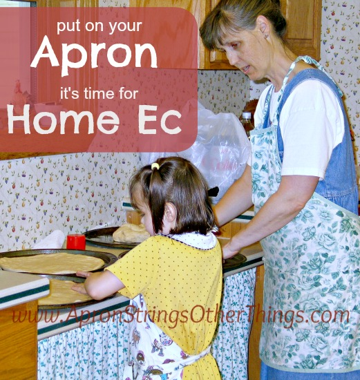 Apron for Home Ec - Apron Strings & other things