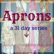 Aprons 31 days button-1b Apron Strings & other things