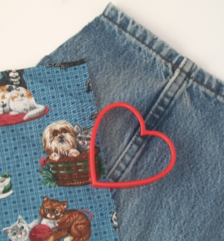 Denim Apron cookie cutter - Apron Strings & other things