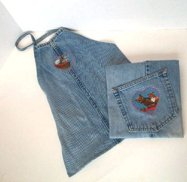 Denim Aprons finished product - Apron Strings & other things