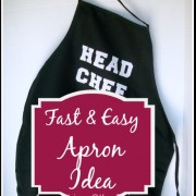 Fast Easy Apron Idea - Apron Strings & other things