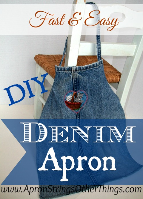 Fast Easy DIY Denim Apron - Apron Strings & other things
