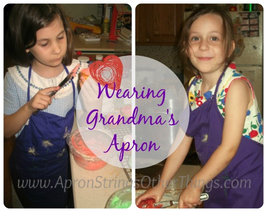 Wearing Grandmas Apron - Apron Strings & other things