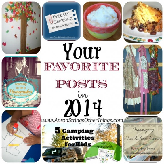 Readers FAvorite Posts 2014 - Apron Strings & other things