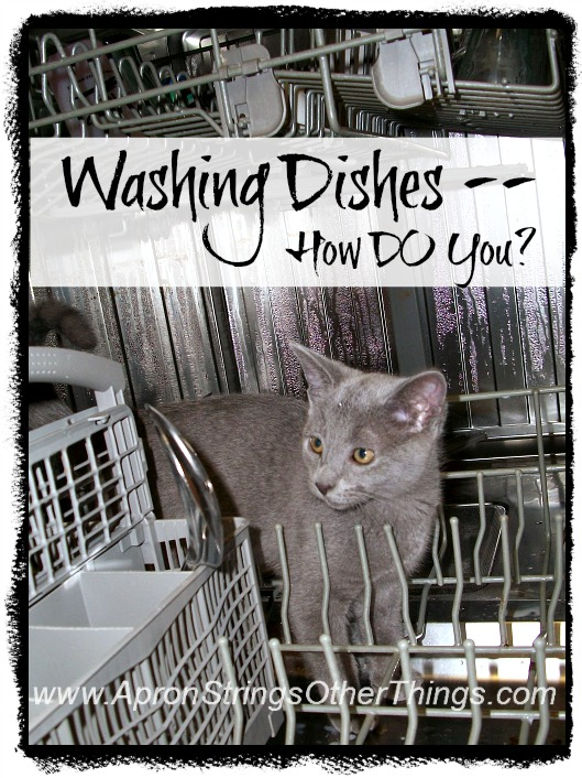 Washing Dishes How DO You - Apron Strings & other things