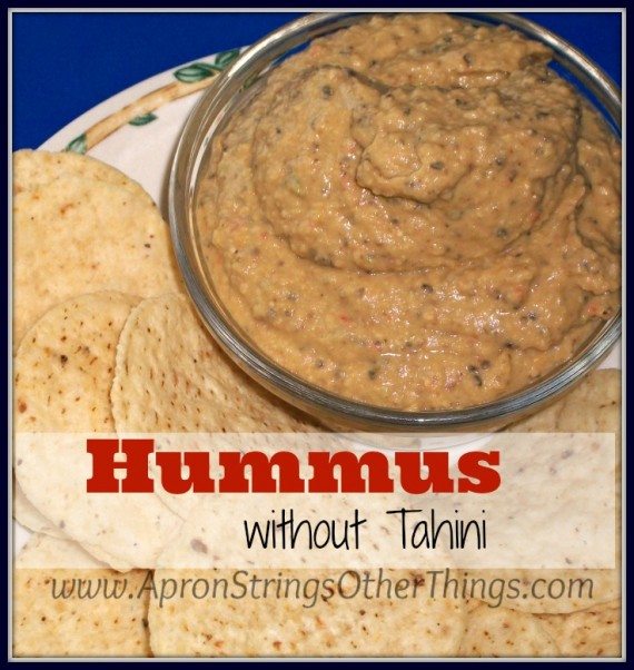 Easy Hummus Recipe without Tahini - Apron Strings & other things