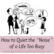 "How to Quiet the ""Noise"" of a Life Too Busy"