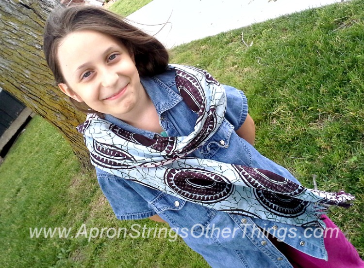 Easy to Sew Two-Sided Scarf