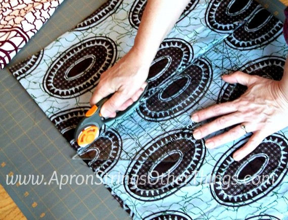 Easy to Sew Two-Sided Scarf measure cut - Apron Strings other things